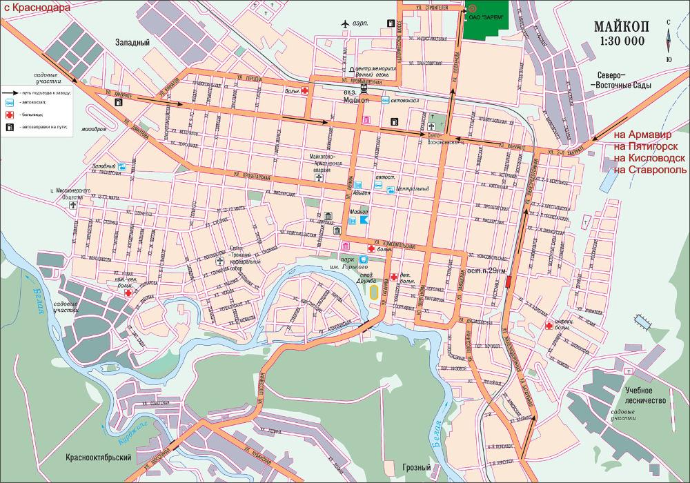Карта сайта - Схема проезда